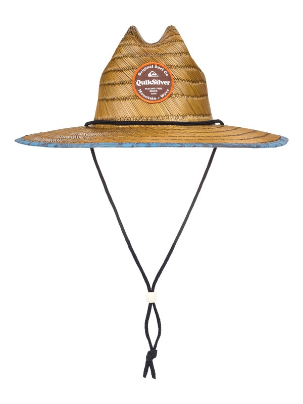 0 Outsider Repent Straw Lifeguard Hat Brown AQYHA04324 Quiksilver