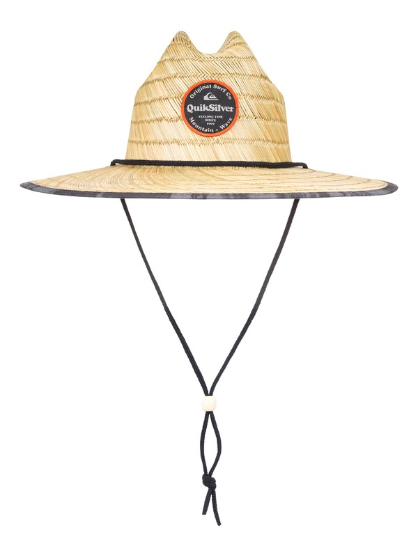 0 Outsider Repent Straw Lifeguard Hat Black AQYHA04324 Quiksilver