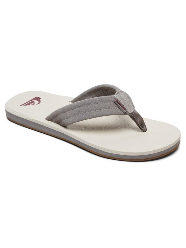 0 Carver - Leather Sandals Grey AQYL100030 Quiksilver