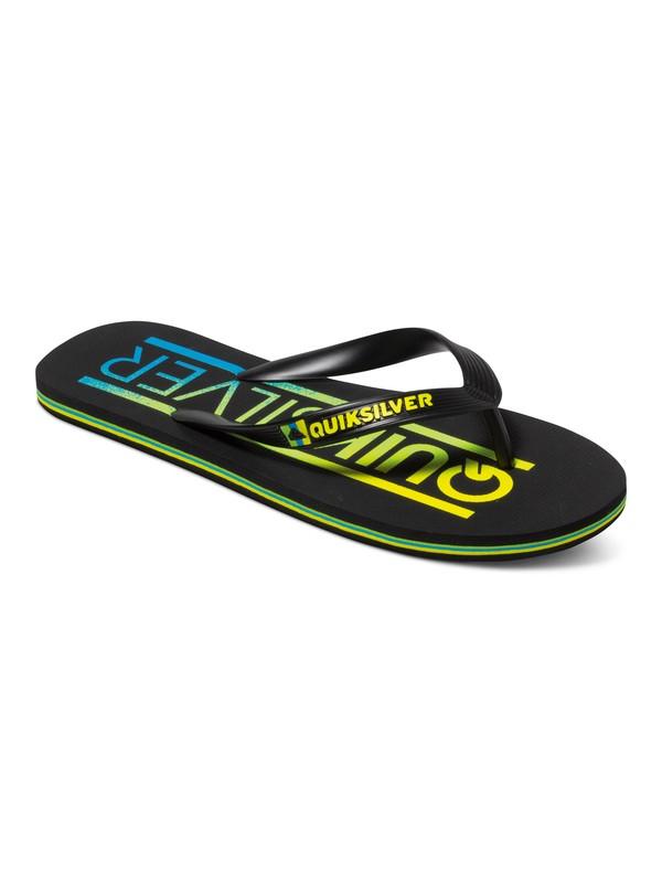 0 Molokai Wordmark Flip-Flops Black AQYL100232 Quiksilver