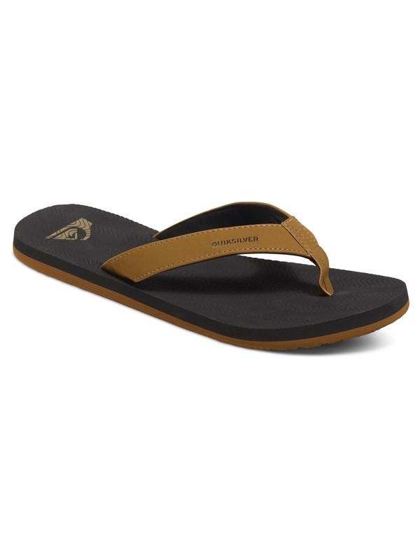 0 Molokai Laser Grip - Sandals Brown AQYL100238 Quiksilver