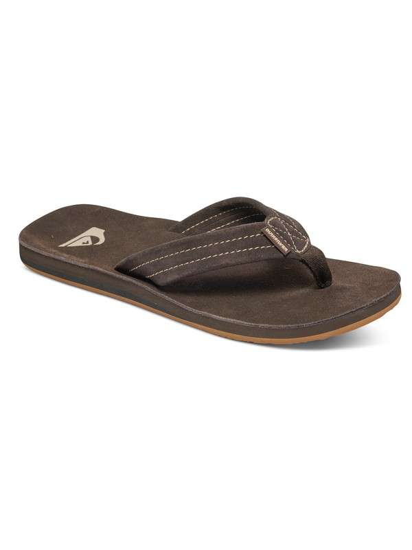 0 Carver Deluxe Suede Sandals Brown AQYL100244 Quiksilver