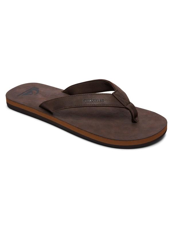 0 Molokai Nubuck - Sandals for Men Brown AQYL100373 Quiksilver