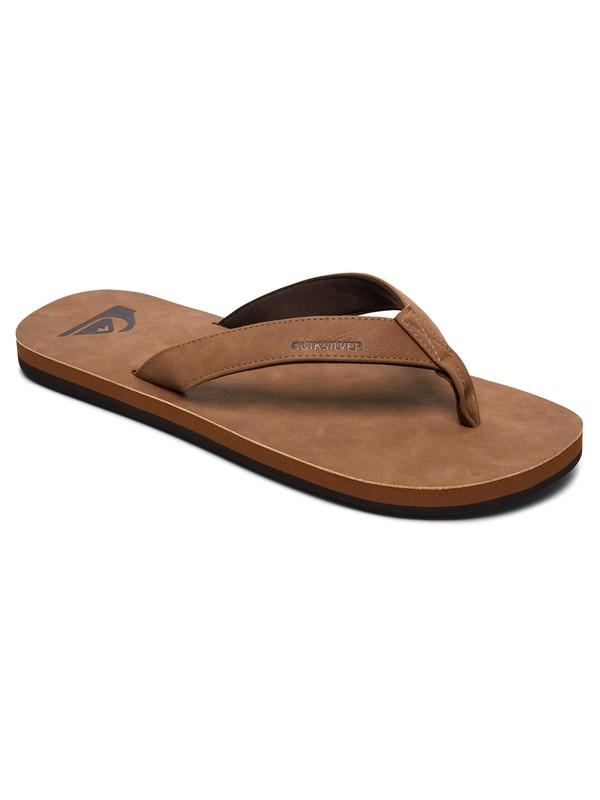 0 Molokai Nubuck - Sandals for Men Beige AQYL100373 Quiksilver