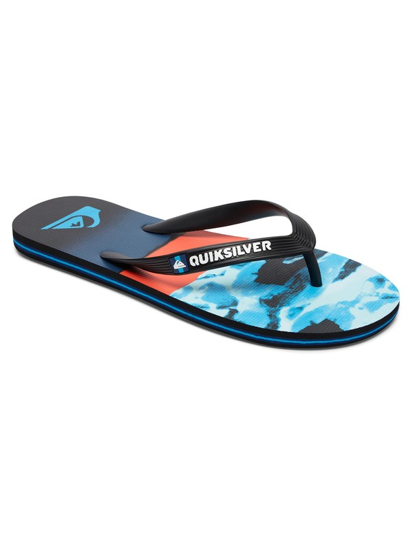 0 Molokai Blocked Resin Flip-Flops Blue AQYL100517 Quiksilver