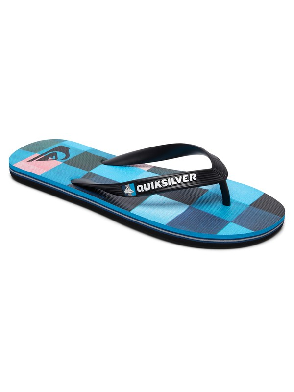 0 Molokai Resin Check - Flip-Flops for Men Black AQYL100569 Quiksilver