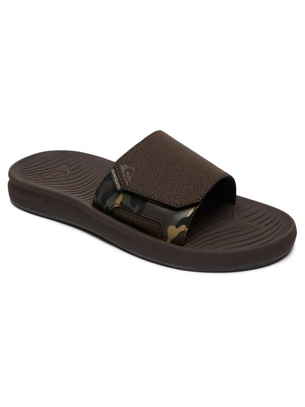 0 Travel Oasis Slider Sandals Brown AQYL100586 Quiksilver