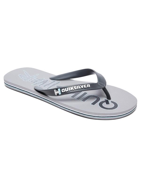 0 Molokai Wordmark Flip-Flops Grey AQYL100592 Quiksilver