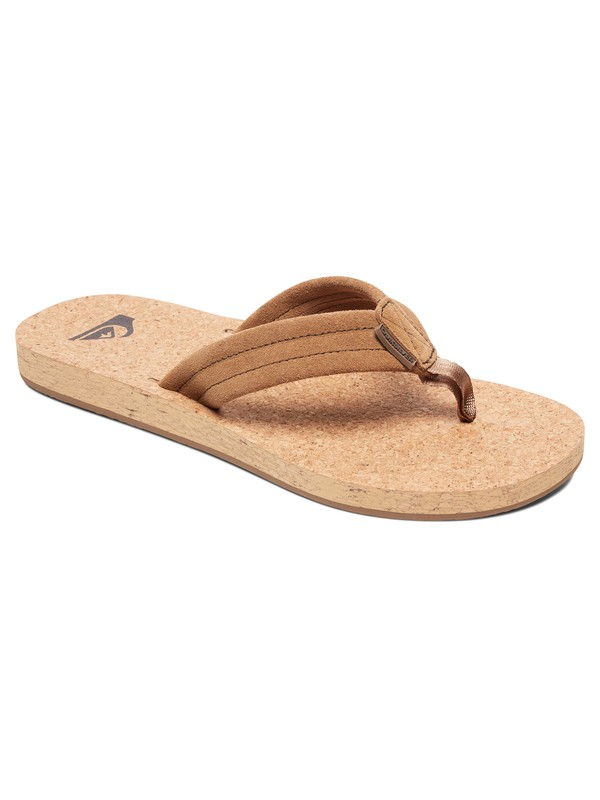 0 Carver Cork Leather Sandals Brown AQYL100597 Quiksilver