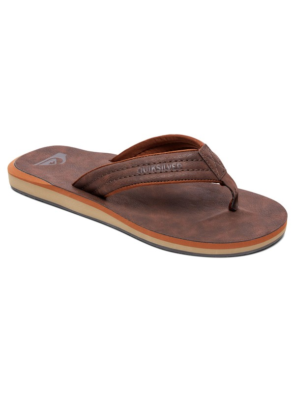 0 Carver Nubuck - Sandals for Men Brown AQYL100623 Quiksilver