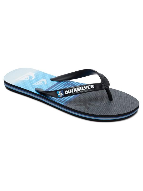 0 Molokai Word Block Flip-Flops Black AQYL100681 Quiksilver