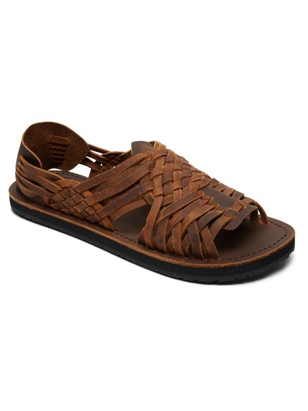 0 Hurache - Leather Sandals for Men Brown AQYL100781 Quiksilver