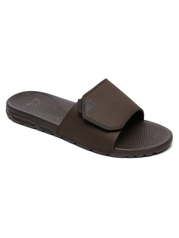 0 Shoreline Nubuck - Slider Sandals for Men Brown AQYL100883 Quiksilver