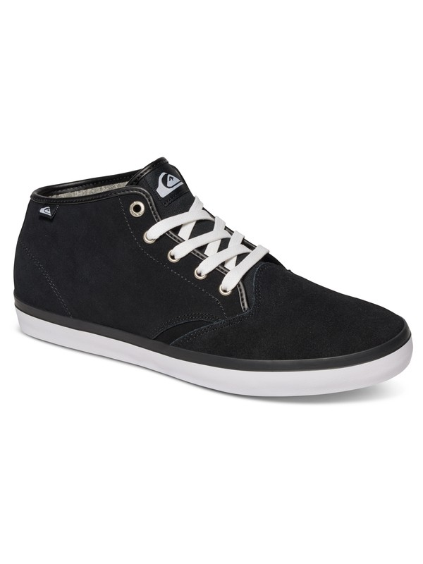 0 Shorebreak - Suede Mid-Top Shoes for Men Black AQYS300030 Quiksilver
