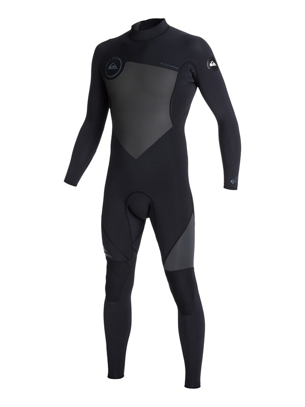 0 Syncro Flatlock 3/2mm Back Zip Wetsuit Black AQYW103039 Quiksilver