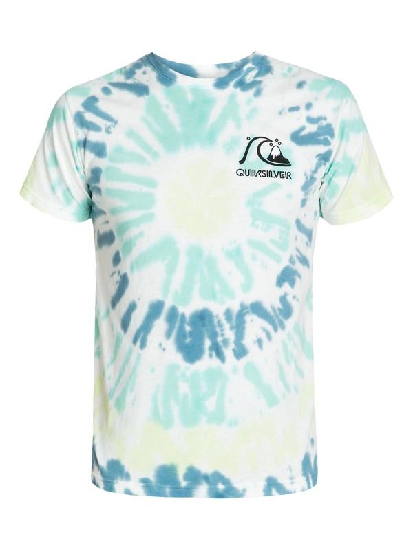 0 Bubble Logo Tie Dye Tshirt  AQYZT01859 Quiksilver