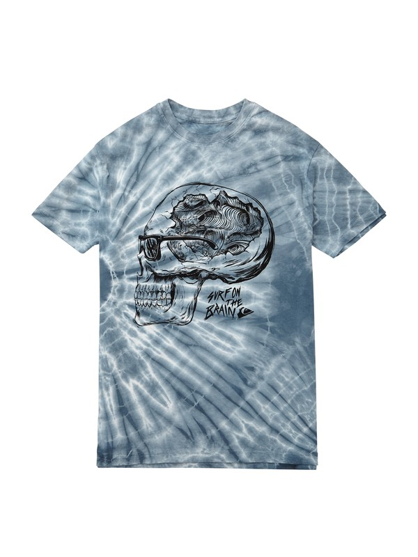 0 Surf on the Brain Tie Dye Tshirt  AQYZT01860 Quiksilver