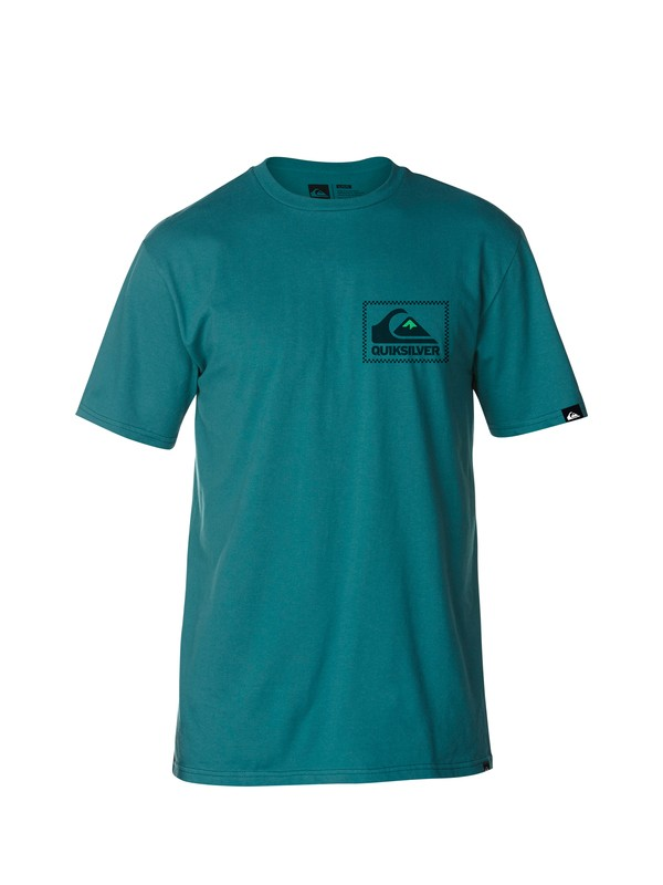 0 Check The Box Slim Fit T-Shirt  AQYZT03030 Quiksilver