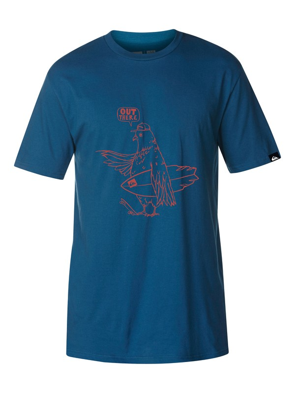 0 For The Birds Slim Fit T-Shirt  AQYZT03037 Quiksilver