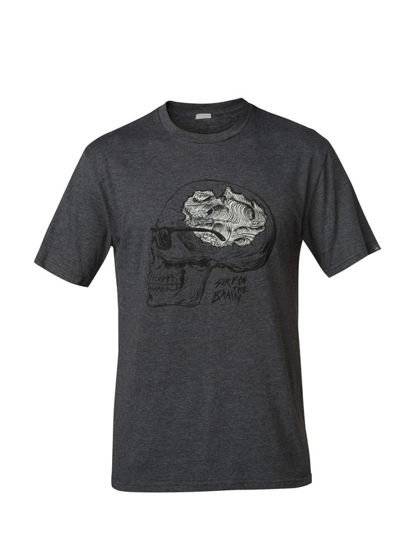 0 Surf On The Brain Modern Fit T-Shirt  AQYZT03127 Quiksilver