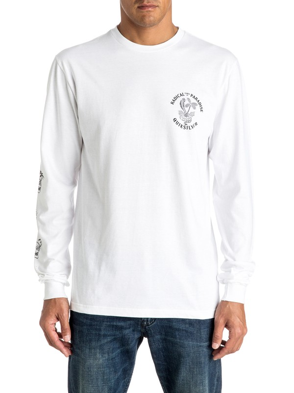 0 Off The Block Long Sleeve Tee  AQYZT04427 Quiksilver