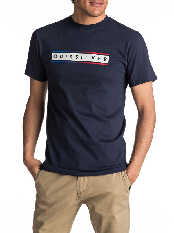 0 Daily Surf Tee Blue AQYZT04734 Quiksilver