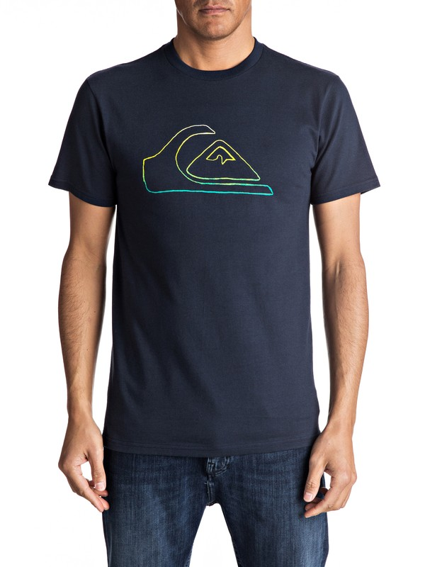 0 Jungle Mountain Tee Blue AQYZT04736 Quiksilver