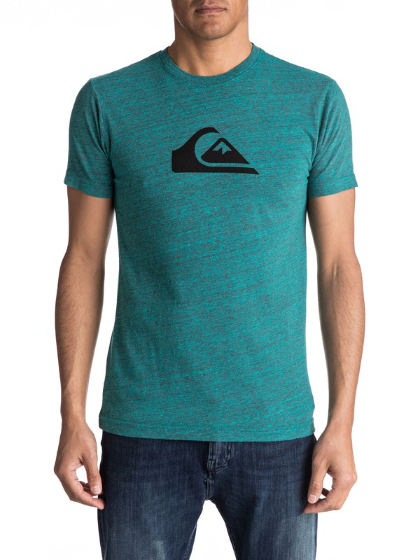 0 MW Tri Blend - T-Shirt Blue AQYZT04755 Quiksilver