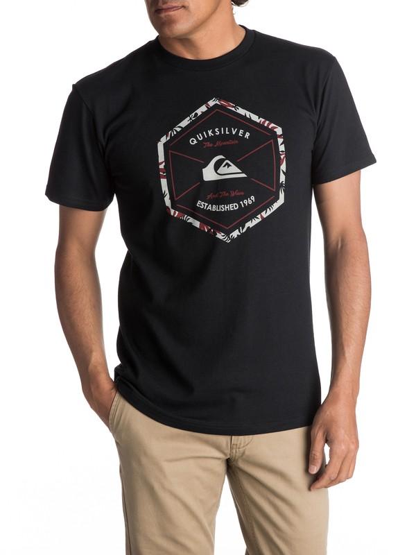 0 Men's Octa Logo Tee Black AQYZT04982 Quiksilver