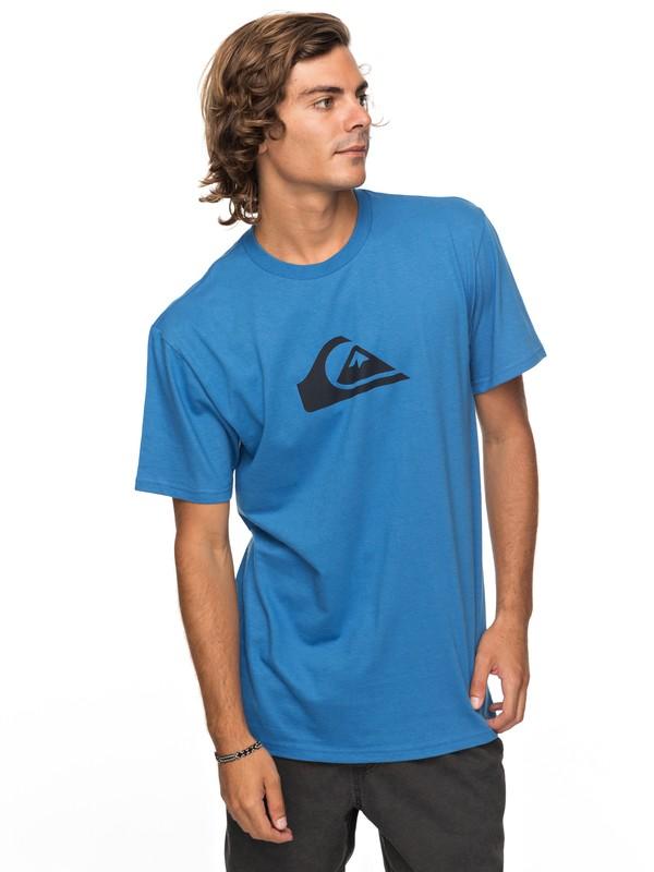 0 Comp Logo Tee Blue AQYZT05120 Quiksilver
