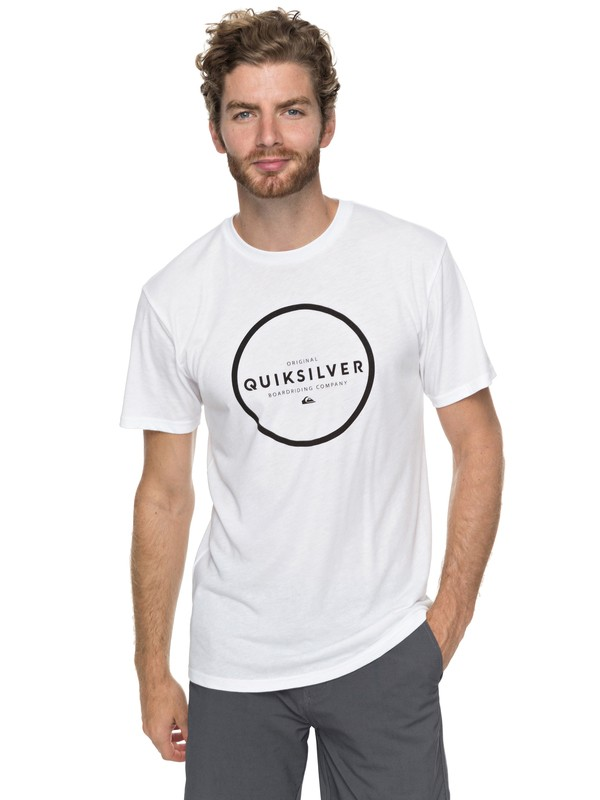 0 Hunter Down Tee White AQYZT05194 Quiksilver