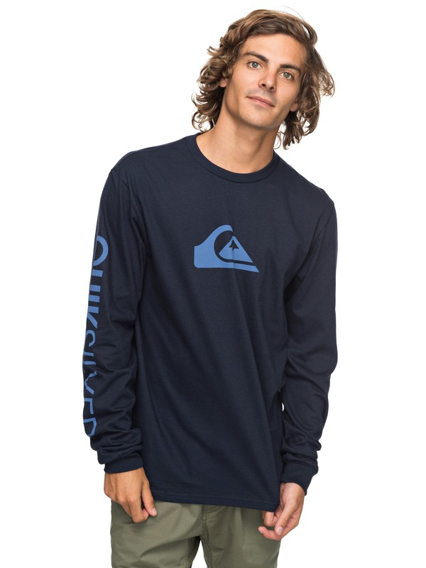 0 Logo Long Sleeve Tee  AQYZT05217 Quiksilver