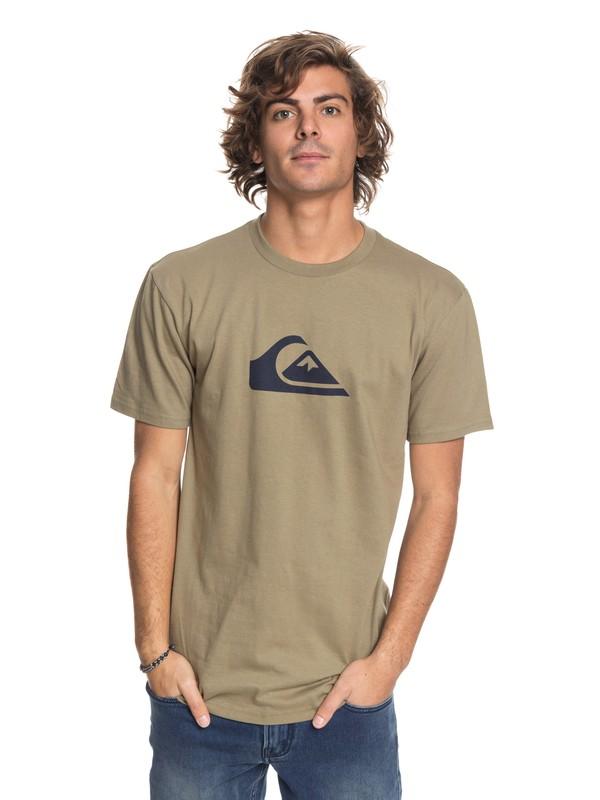 0 Comp Logo - T-Shirt Beige AQYZT05419 Quiksilver