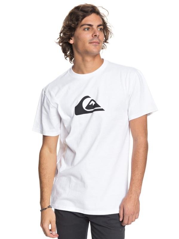 0 Comp Logo Tee White AQYZT05419 Quiksilver