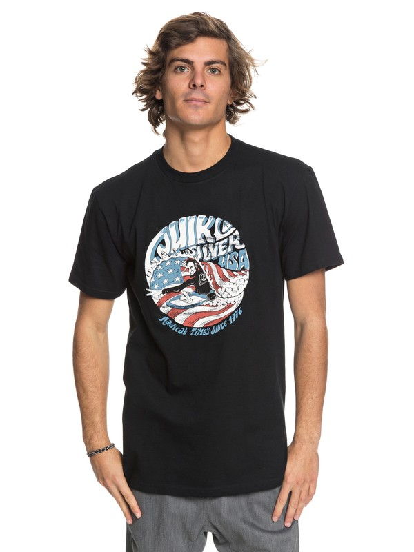 0 We Need You - T-Shirt Black AQYZT05421 Quiksilver
