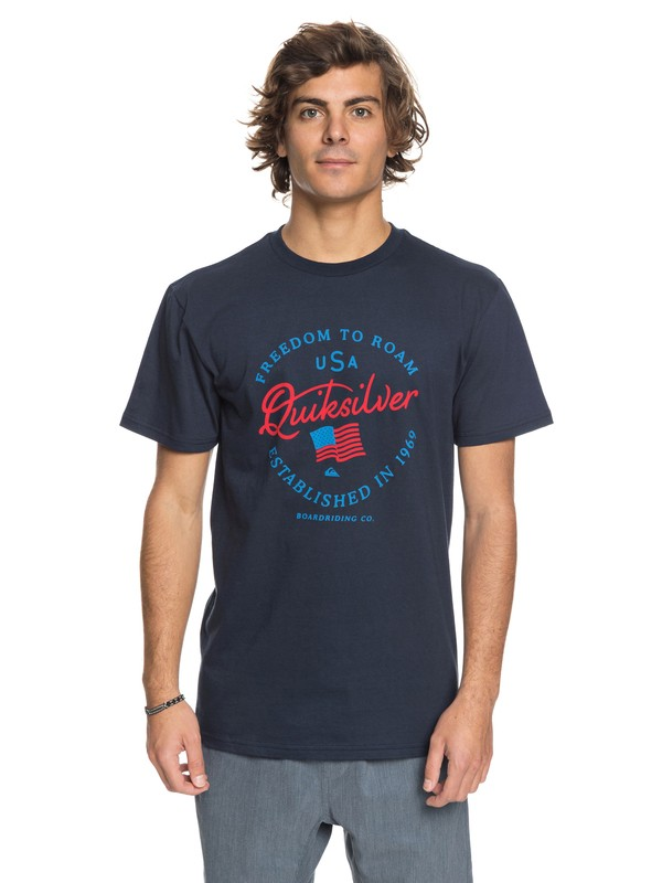 0 Freedom To Roam - T-Shirt Blue AQYZT05422 Quiksilver