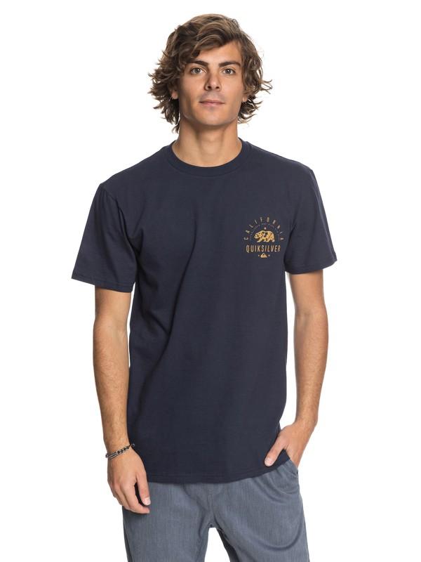 0 Cali Bear - T-Shirt Blue AQYZT05423 Quiksilver