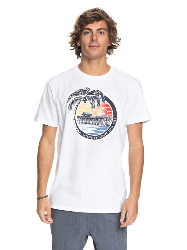 0 Florida Pier - T-Shirt White AQYZT05426 Quiksilver