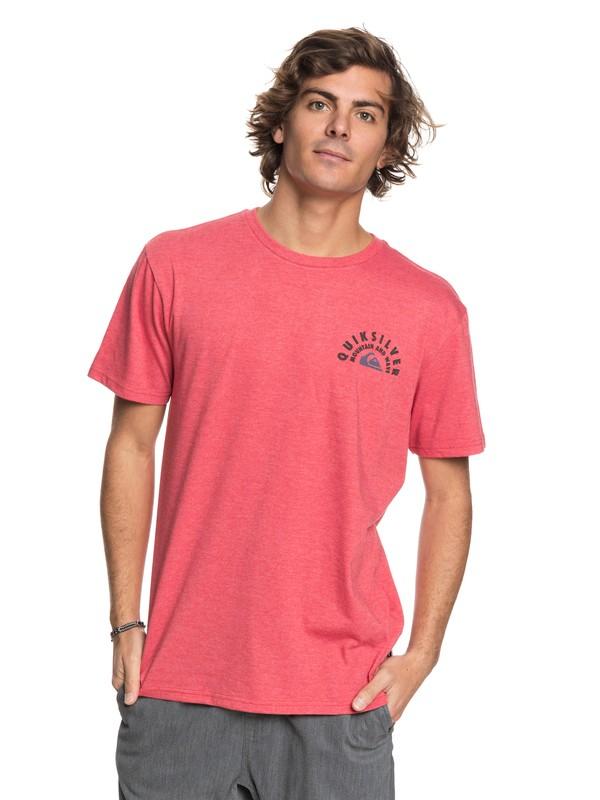 0 Men Circle Of Grunge Camiseta Rojo AQYZT05440 Quiksilver