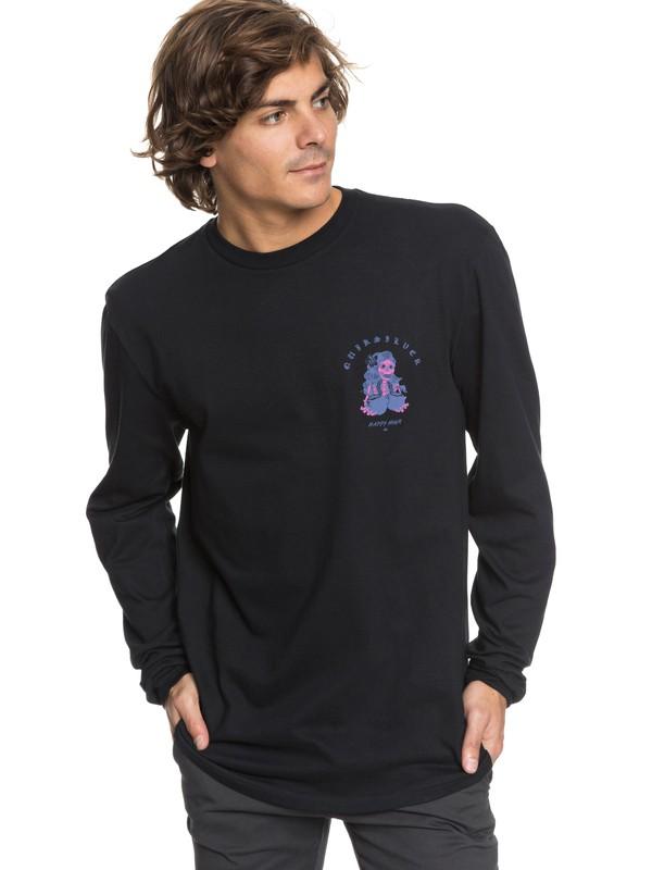 0 Coconut Power - Long Sleeve T-Shirt Black AQYZT05454 Quiksilver