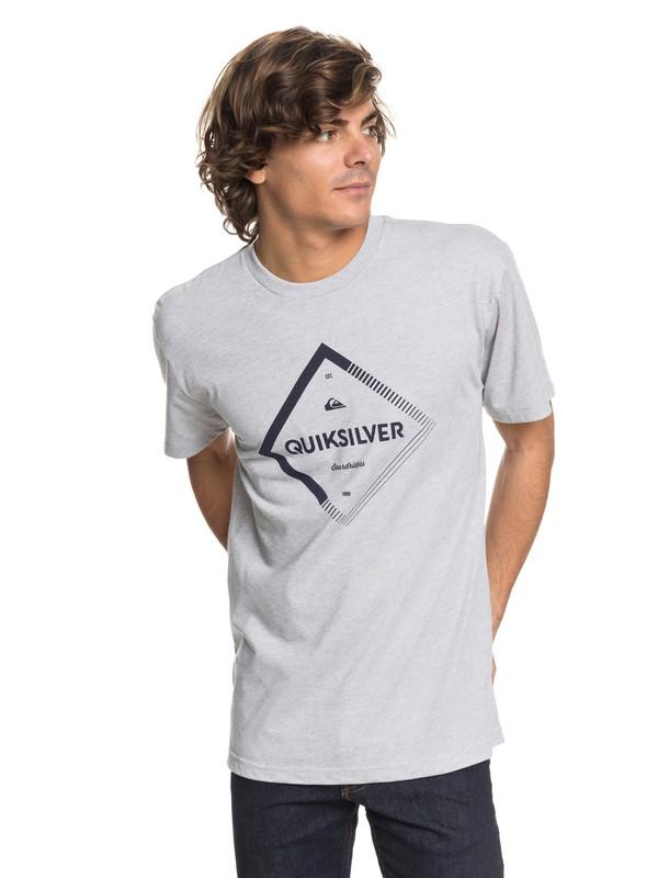 0 Men Diamond Spirit Camiseta Técnica Gris AQYZT05459 Quiksilver