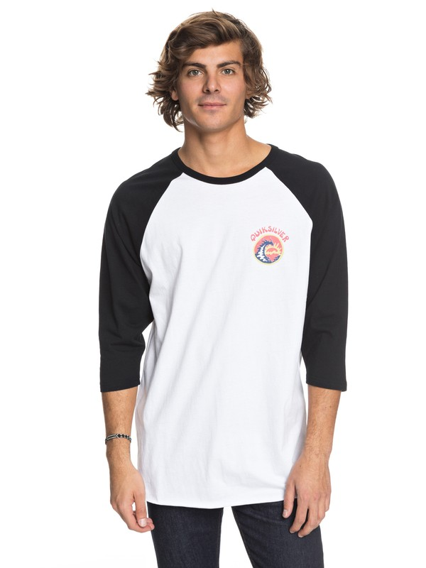 0 Men Hollow Sessions Camiseta Manga 3/4 Blanco AQYZT05463 Quiksilver