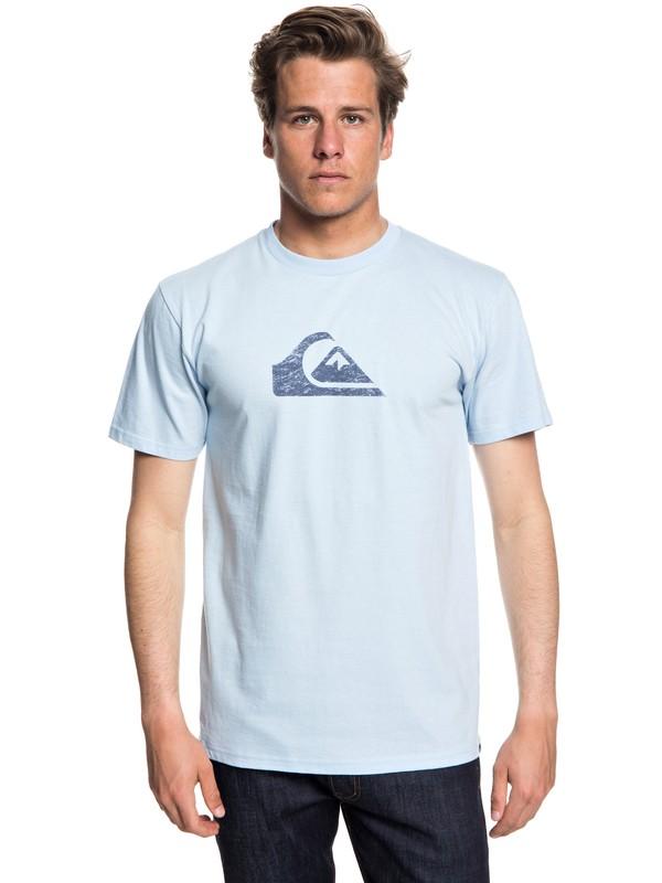 0 Men's Comp Logo Tee Blue AQYZT05534 Quiksilver