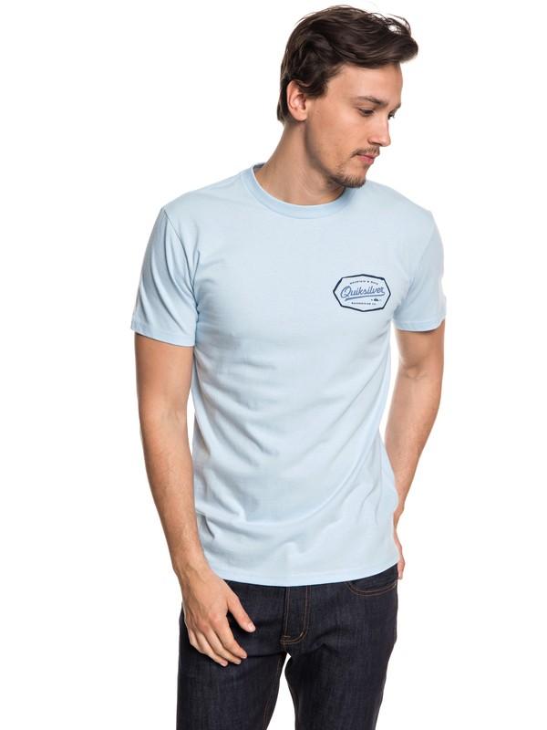 0 Hombres Camiseta Live On The Edge Azul AQYZT05539 Quiksilver