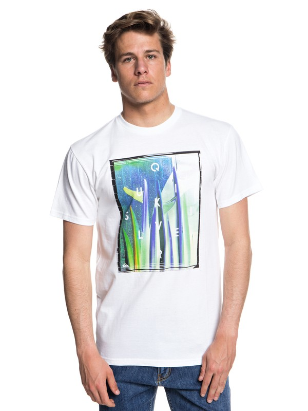 0 Quiver Central Tee White AQYZT05543 Quiksilver