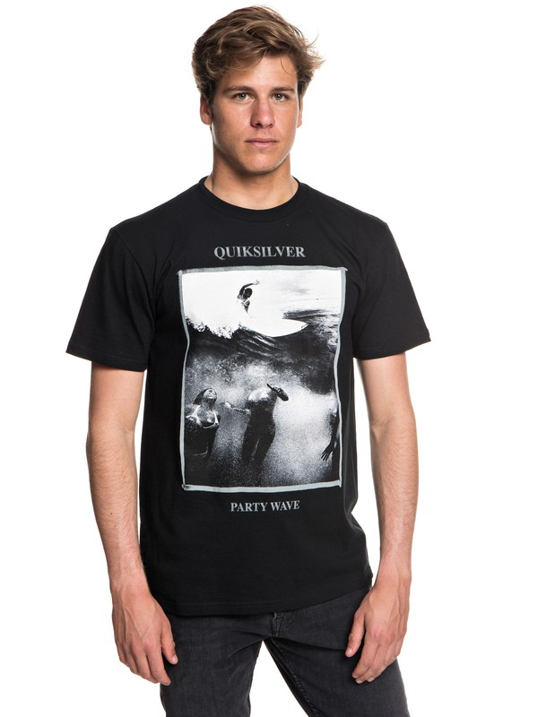 0 Men's Wave Party Tee Black AQYZT05544 Quiksilver