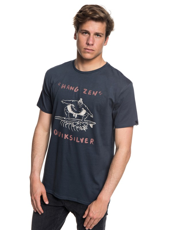 0 Men's Hang Zen Tee Blue AQYZT05546 Quiksilver