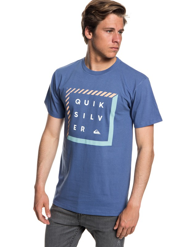0 Men's Diamond Box Tee Blue AQYZT05547 Quiksilver