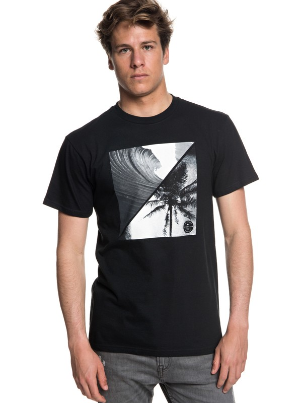 0 Men's Colorful Night Tee Black AQYZT05549 Quiksilver