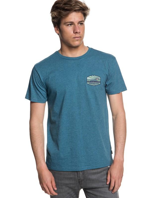 0 Hombres Camiseta Emty Lineup Azul AQYZT05555 Quiksilver